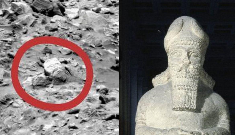 Древняя скульптура на Марсе