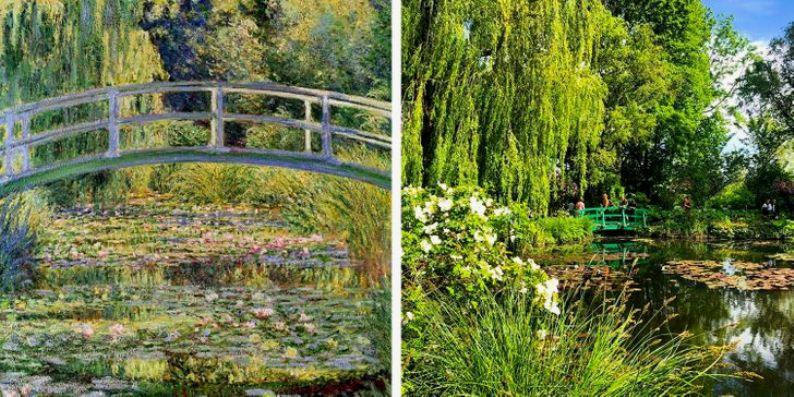 Водяные лилии и японский мостик