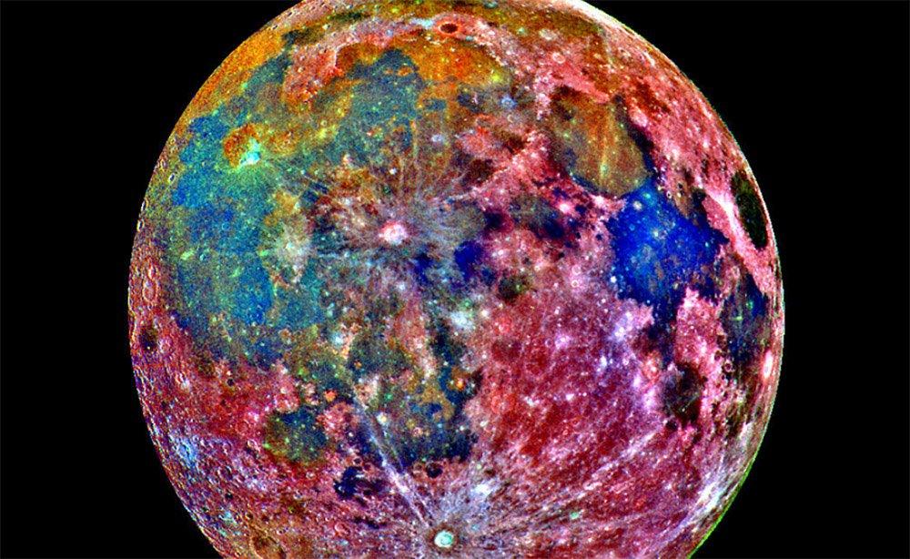 Разноцетная луна