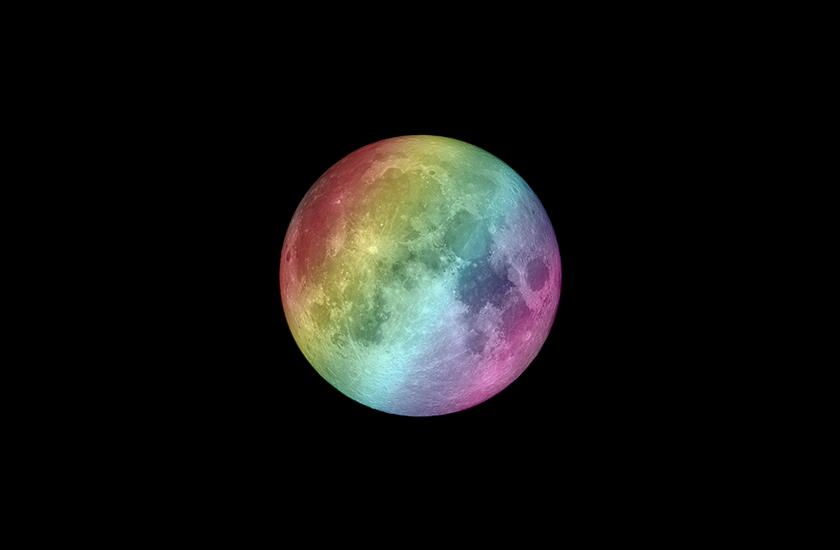 Разноцветная луна
