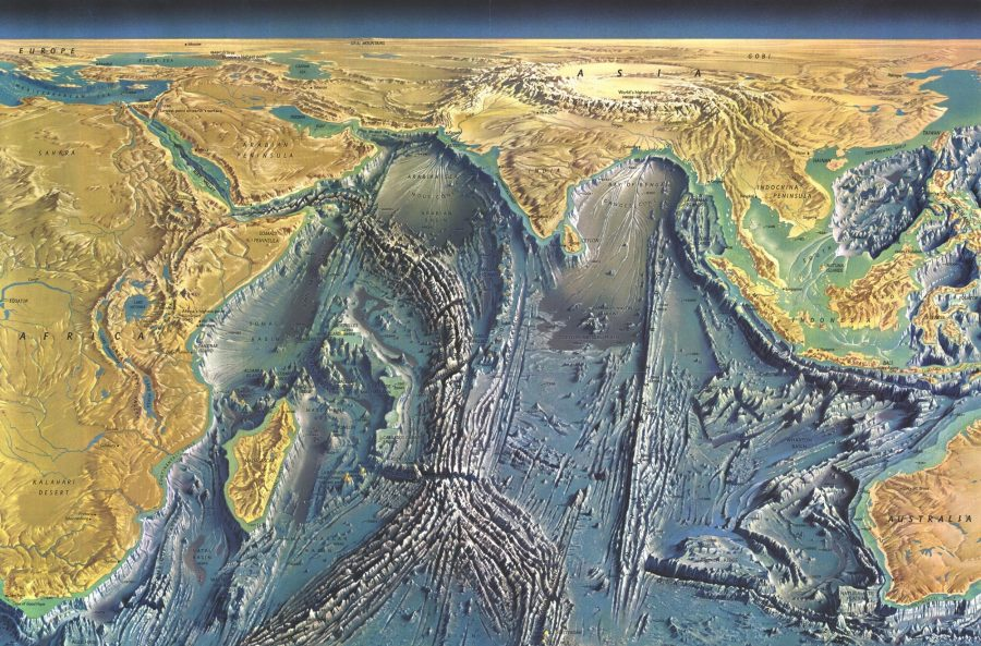 Снимок дна Индийского океана