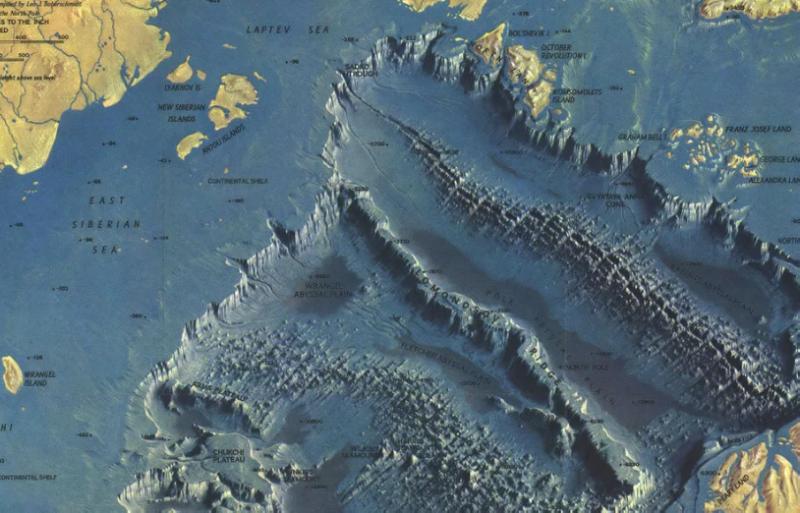 Снимок дна Северо-ледовитого океана