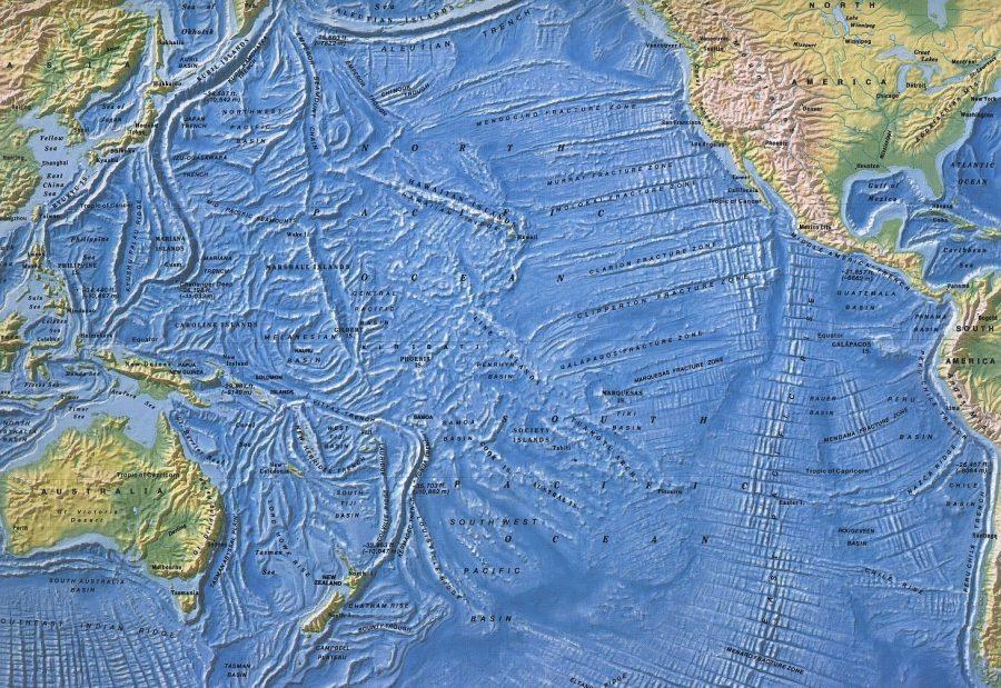 Снимок дна Тихого океана