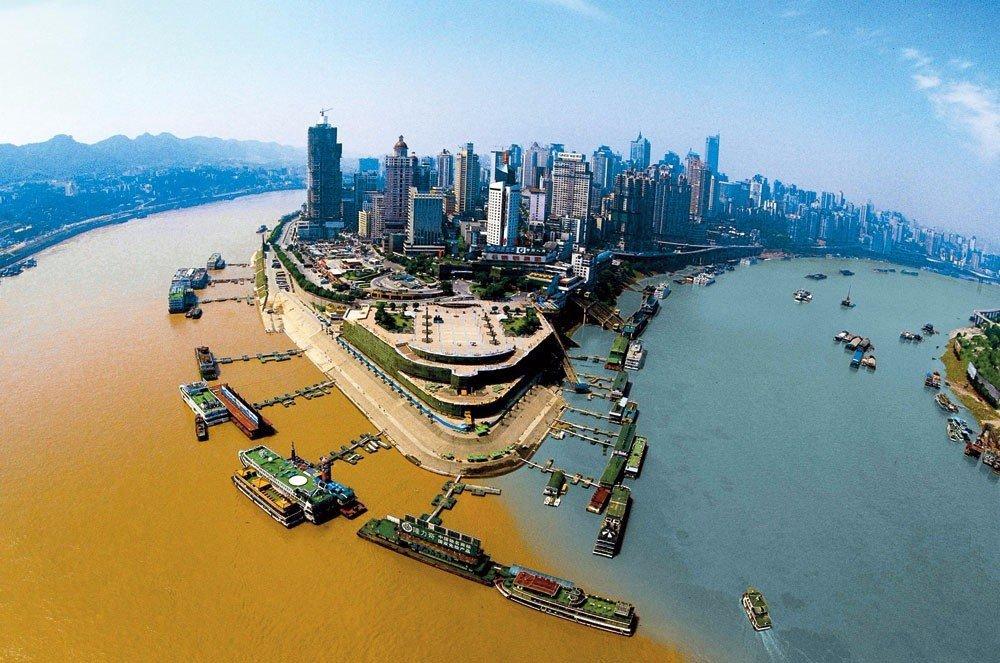 Реки Цзялин и Янцзы в Китае