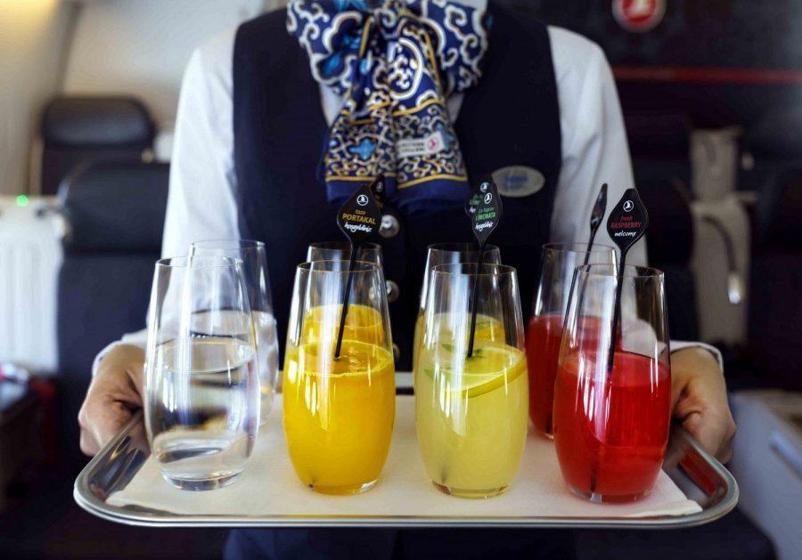 Напитки в самолете