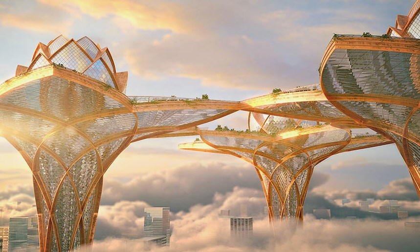 Проект города в небесах