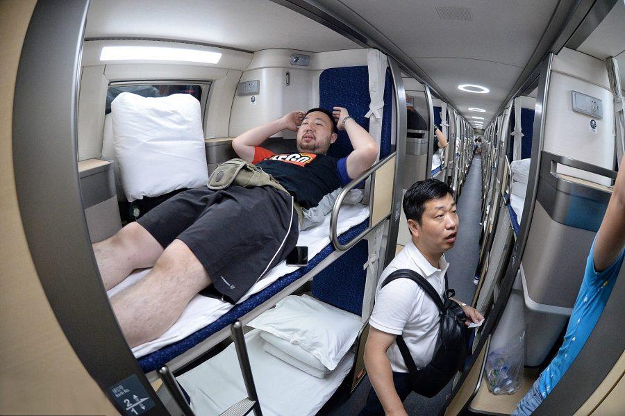 Плацкартные вагоны в Китае