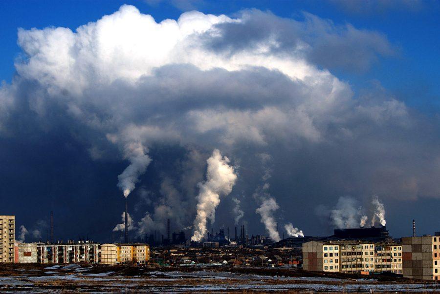 Загрязненный воздух в Норильске