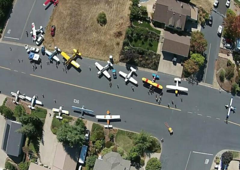 Самолеты на дороге