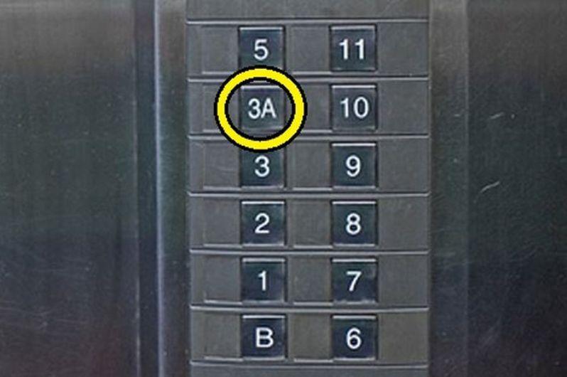 Кнопки в лифте