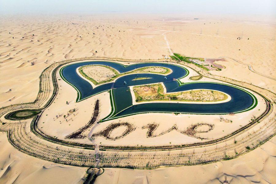 Озеро любви в Эмиратах