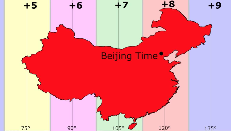 Часовые пояса в Китае