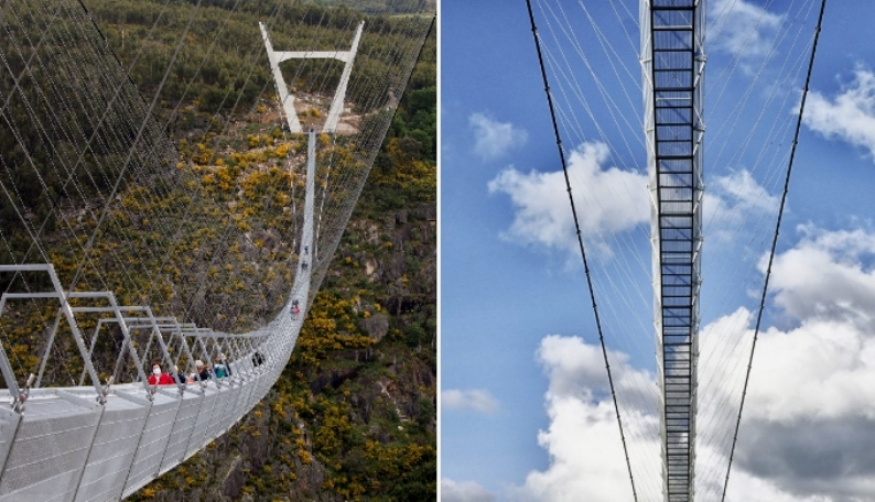 Подвесной мост в Португалии