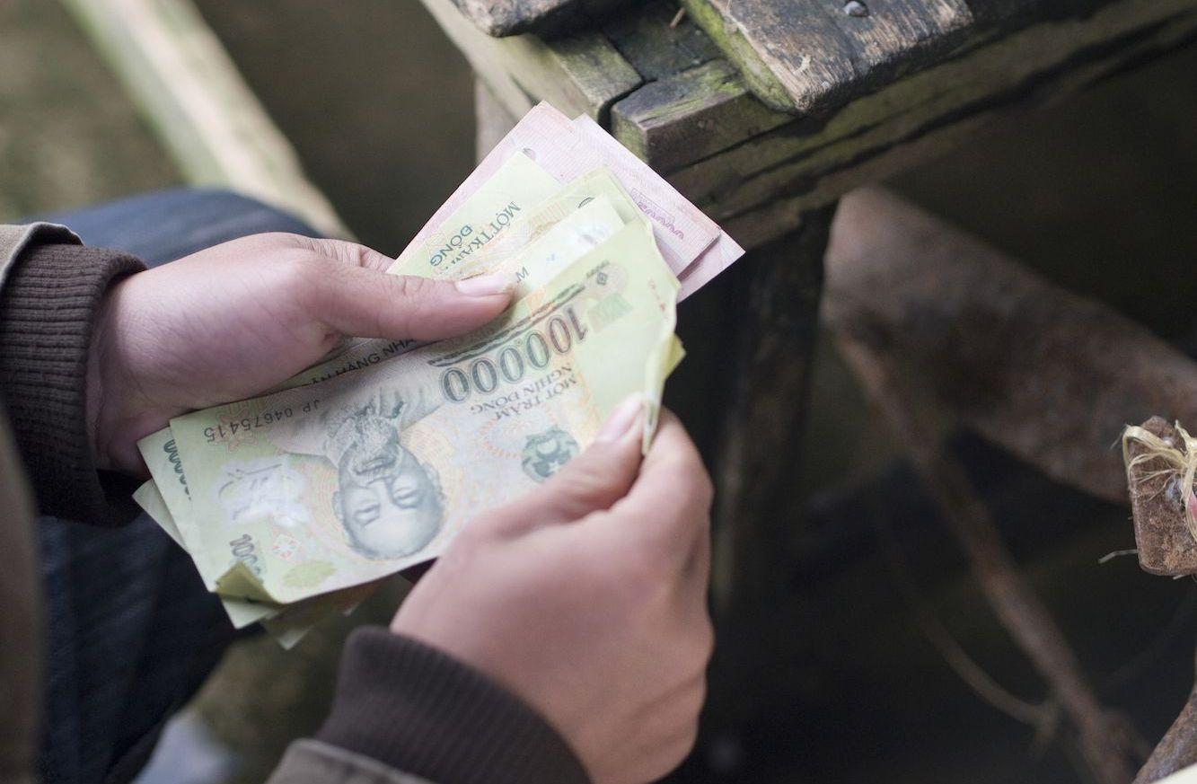 Считать вьетнамские деньги