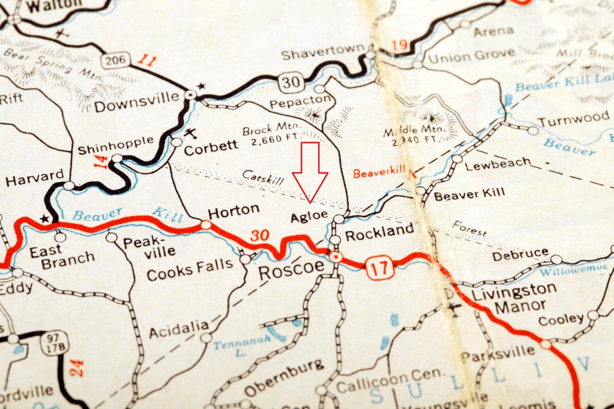 Эглоу несуществующий город на карте