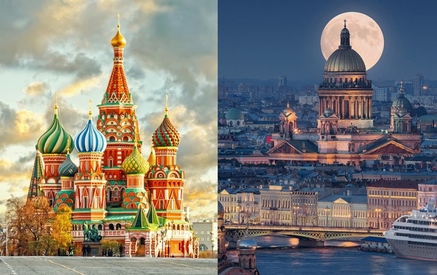 Москвичи и петербуржцы