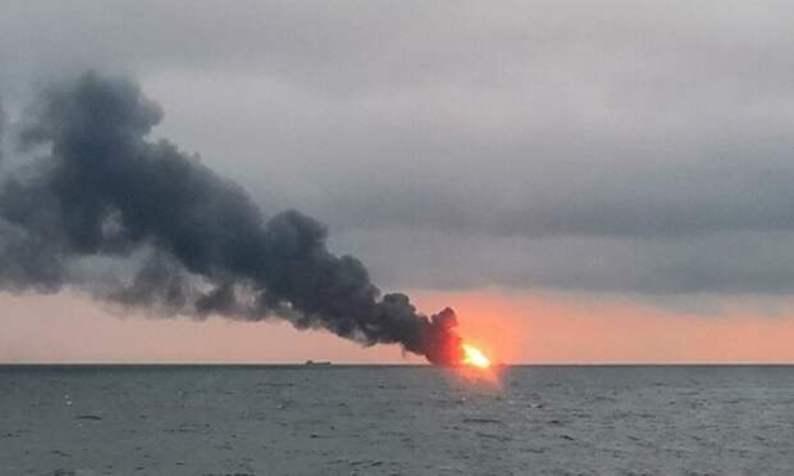 Возгорание на море