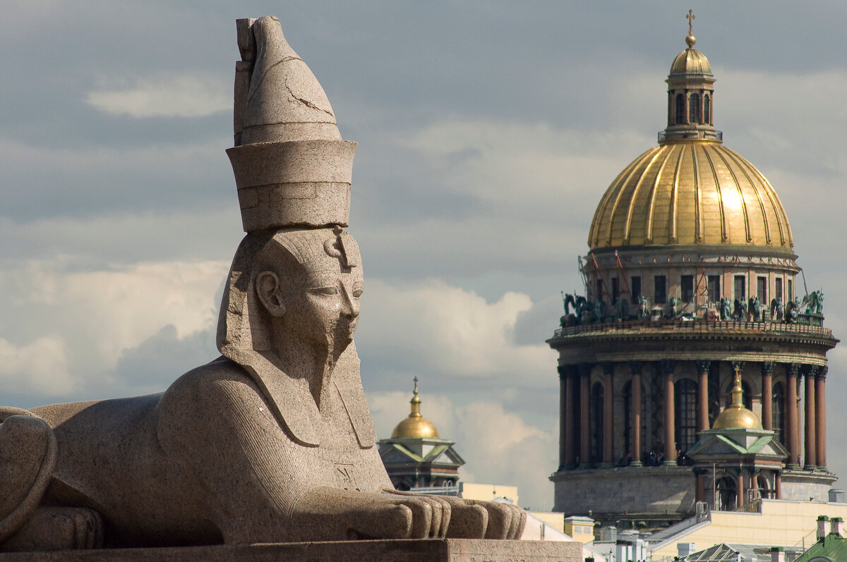В Санкт-Петербурге египетские сфинксы