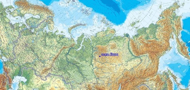 Озеро Виви на карте