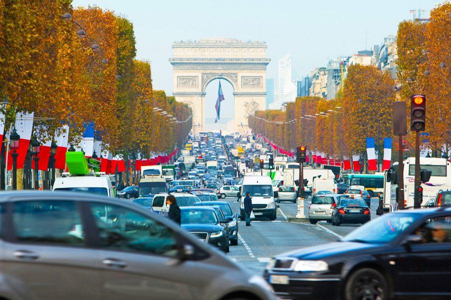 Загрязненный воздух в Париже
