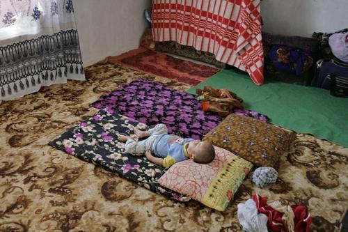 Узбеки спят на полу