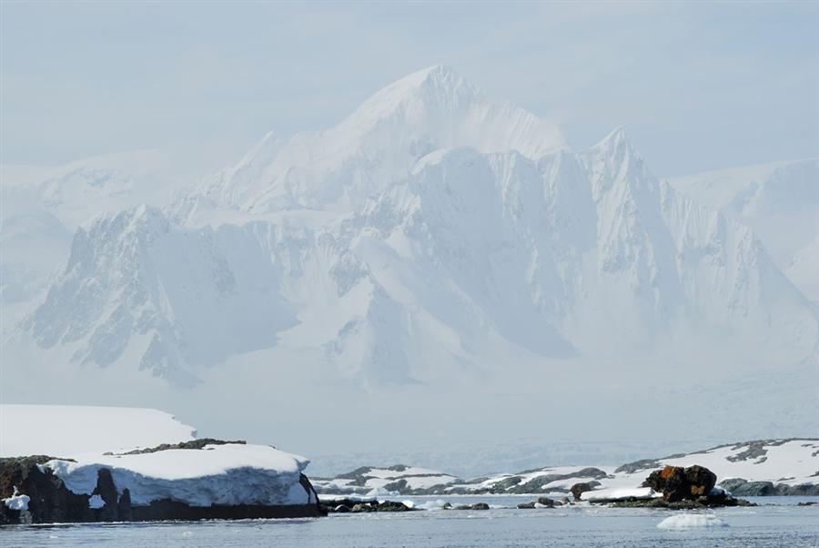 У ледника Шеклтона в Антарктиде