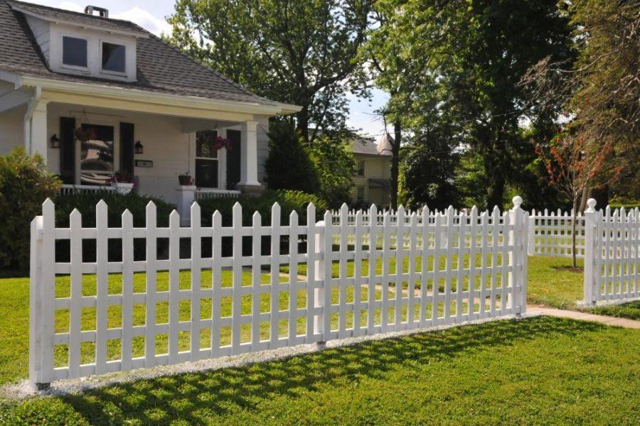 Забор у дома