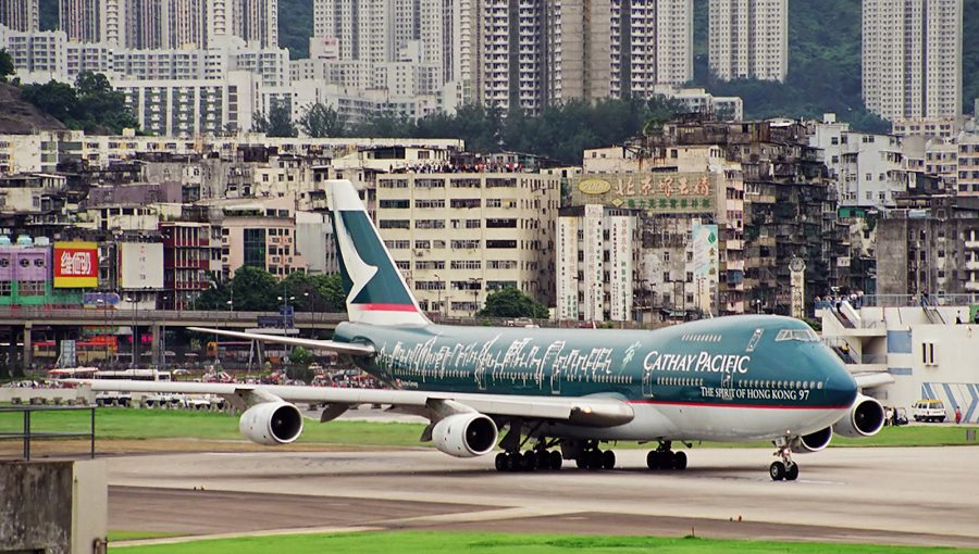 Аэропорт Кайтак в Китае