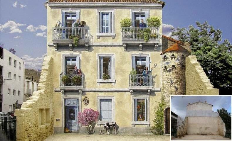 Фальшивые фасады домов