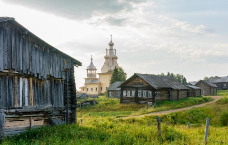 Деревянная церковь в Кимже